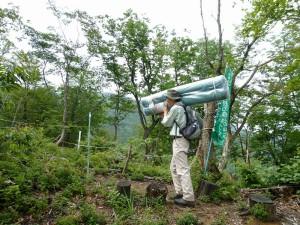山シカ除けネットのボッカ