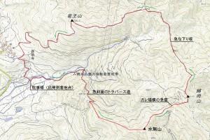 水無山、綿向山、竜王山-地図